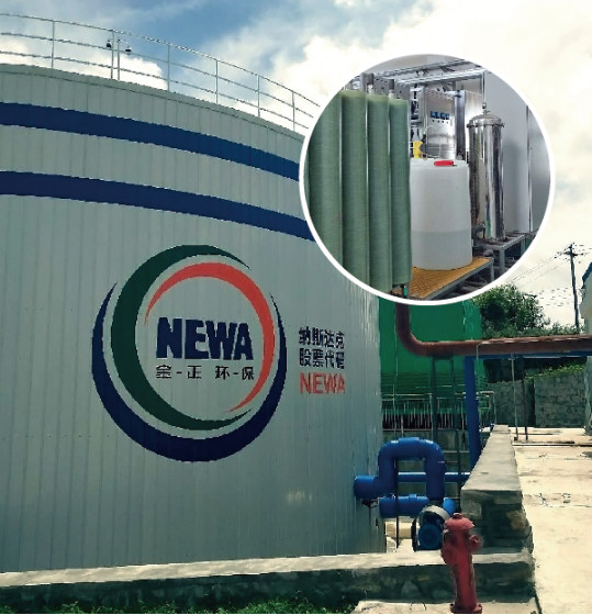 Landfill leachate expansion project using membrane technology in Shandong province